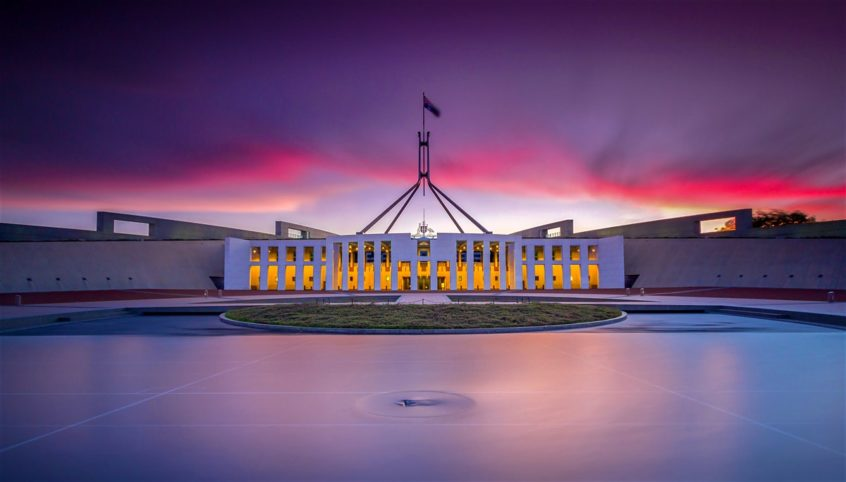 parliament house winter canberra ACT capital city australia government holiday short term lease
