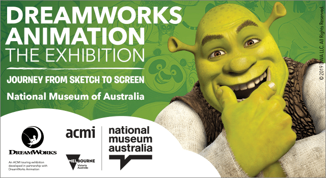 DreamWorks Animation Exhibition shrek dragon kungfu panda canberra short term holiday accommodation school vacation national museum