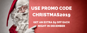 santa claus promo code promotion canbhol canberra short term holiday accommodation budget christmas holiday ACT