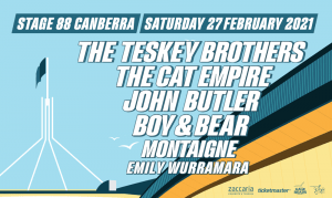 canberra short term holiday accommodation summersalt music festival ACT stage 88 sun salt